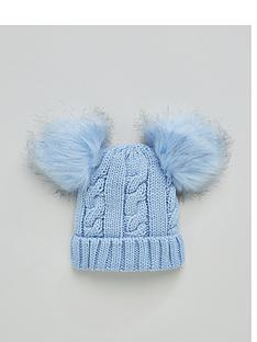 v-by-very-baby-double-pom-beanie-pale-blue