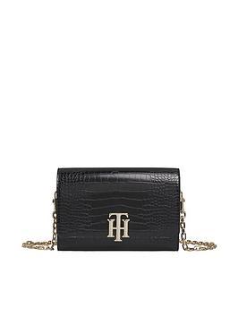 tommy-hilfiger-lock-crossover-crocodile-bag-black