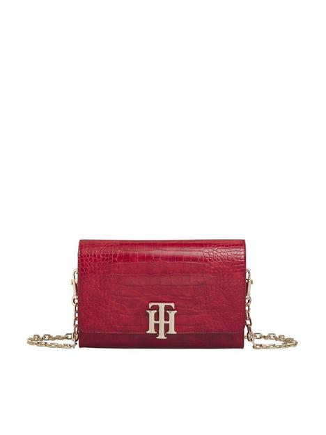 tommy-hilfiger-lock-crossover-croc-bag-red