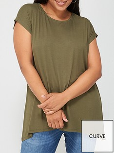 v-by-very-curve-batwing-t-shirt-khaki