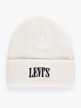 levis-serif-logo-beanie-white