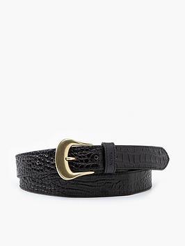 levis-vintage-croc-embossed-western-belt-black