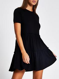 river-island-t-shirt-jersey-smock-dress-black