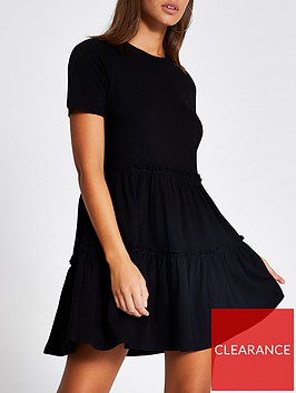 river-island-t-shirt-jersey-smock-dress-black