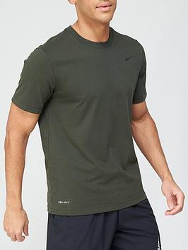 nike-training-dry-t-shirt-khaki