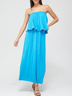 v-by-very-bandeau-midi-dress-bright-blue