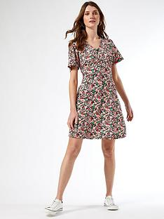 dorothy-perkins-floralnbspbutton-through-dress-pink