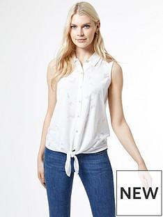 dorothy-perkins-white-tie-front-sleeveless-shirt
