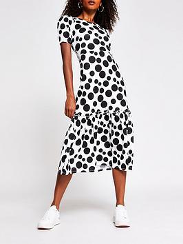 river-island-polka-dot-tiered-jersey-midi-dress-spot-print
