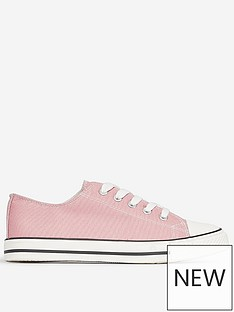 dorothy-perkins-canvas-trainers-pink