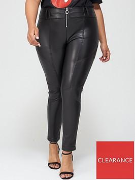 v-by-very-curve-pu-trouser-black
