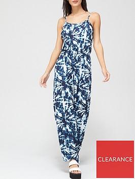 v-by-very-split-maxi-dress-print
