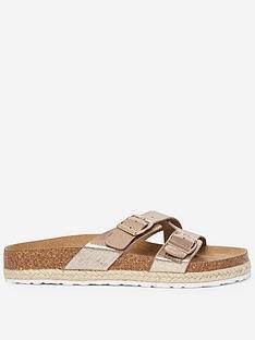 dorothy-perkins-buckle-flat-sandals-gold