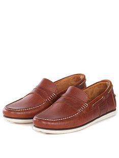 barbour-keel-boat-shoe-cognac