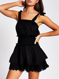river-island-dobby-texture-lace-trim-frill-beach-playsuit-black