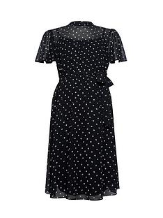 dorothy-perkins-maternity-mono-chiffon-fit-amp-flare-dress-black