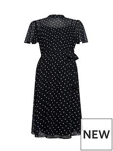 dorothy-perkins-maternity-mono-chiffon-fit-amp-flare-dress-black