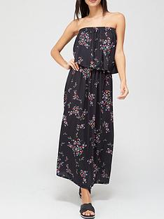 v-by-very-bandeau-midi-dress-print