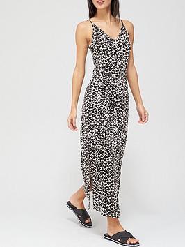v-by-very-strappy-midi-dress-animal-print