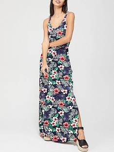 v-by-very-channel-waist-maxi-dress-tropical-print