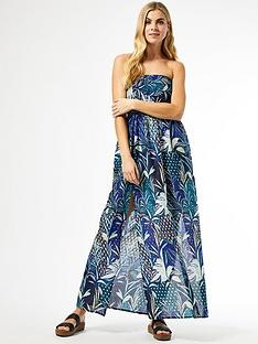 dorothy-perkins-tropical-bandeau-maxi-dress-navy