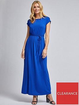 dorothy-perkins-roll-sleeve-maxi-dress--nbspcobalt