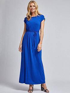 dorothy-perkins-roll-sleeve-maxi-dress--nbspcobaltnbsp