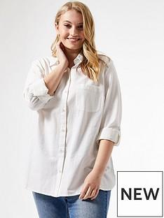 dorothy-perkins-curve-linen-shirt--nbspwhitenbsp