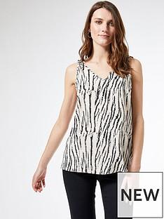 dorothy-perkins-zebra-tie-shoulder-vest