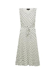 dorothy-perkins-spot-wrap-pleat-midi-dress-white