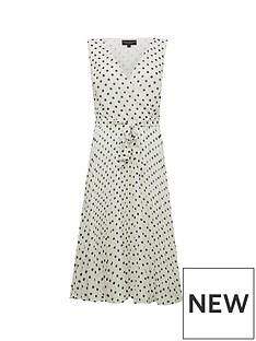 dorothy-perkins-spot-wrap-pleat-midi-dress-white
