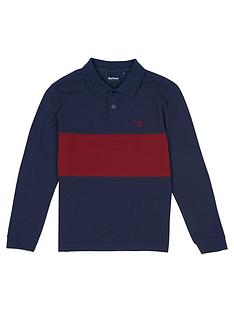 barbour-boys-long-sleeve-colour-block-polo-navy