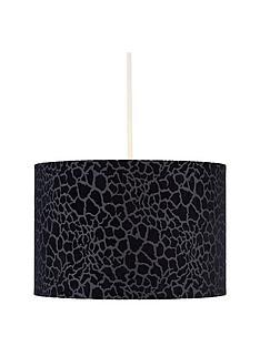 lumi-embossed-easy-fit-light-shade--nbspblack