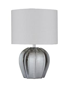Reign Herringbone Glass Table Lamp
