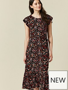wallis-ditsy-midi-dress-black