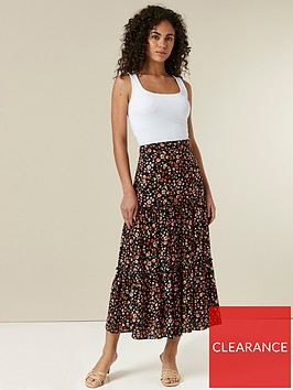 wallis-floral-maxi-skirt-black