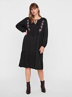 junarose-adina-embroidered-midi-dress-black