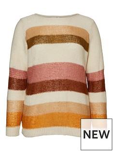 junarose-alyas-striped-colourblock-knit-jumper-off-white