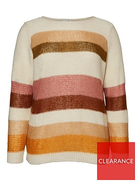 junarose-alyas-striped-colourblock-knit-jumper-off-white