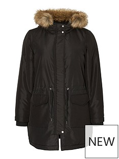 junarose-zinna-faux-fur-trim-parka-coat-black