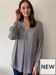 wallis-stripe-print-shirt-monochrome