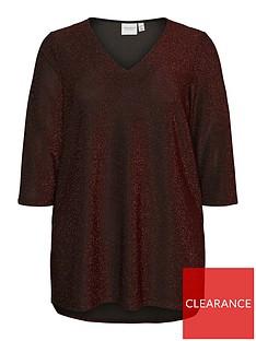 junarose-sakina-glitter-top-red