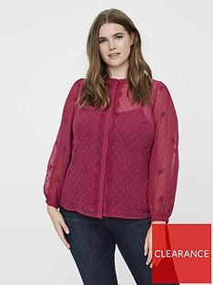 junarose-amana-dobby-long-sleeve-blouse-pink