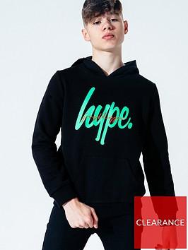 hype-neon-script-pullovernbsphoodie-blacknbsp