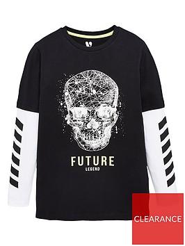v-by-very-boys-2-in-1-long-sleeve-skull-t-shirt-black