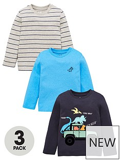 mini-v-by-very-boys-3-pack-dino-truck-long-sleeve-tops-multi