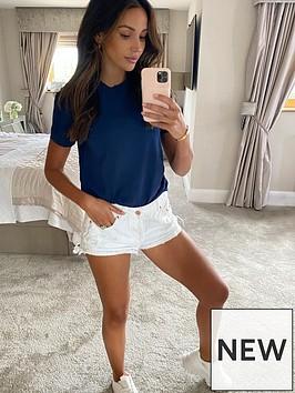 michelle-keegan-minimal-short-sleeve-t-shirt-navy