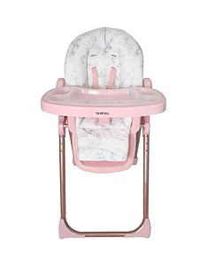 nicole-snooki-polizzi-mawma-rose-gold-marble-premium-highchair