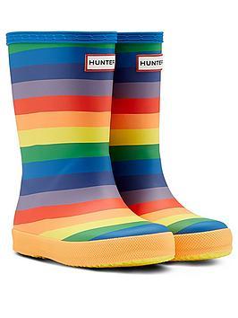 hunter-kids-first-classic-rainbow-print-wellington-boot-multi