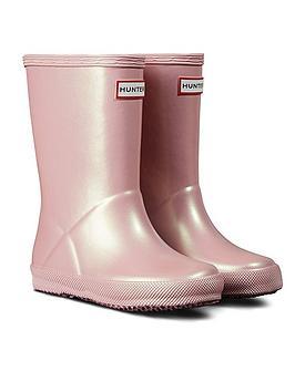 hunter-kids-first-classic-nebula-wellington-boot-pink